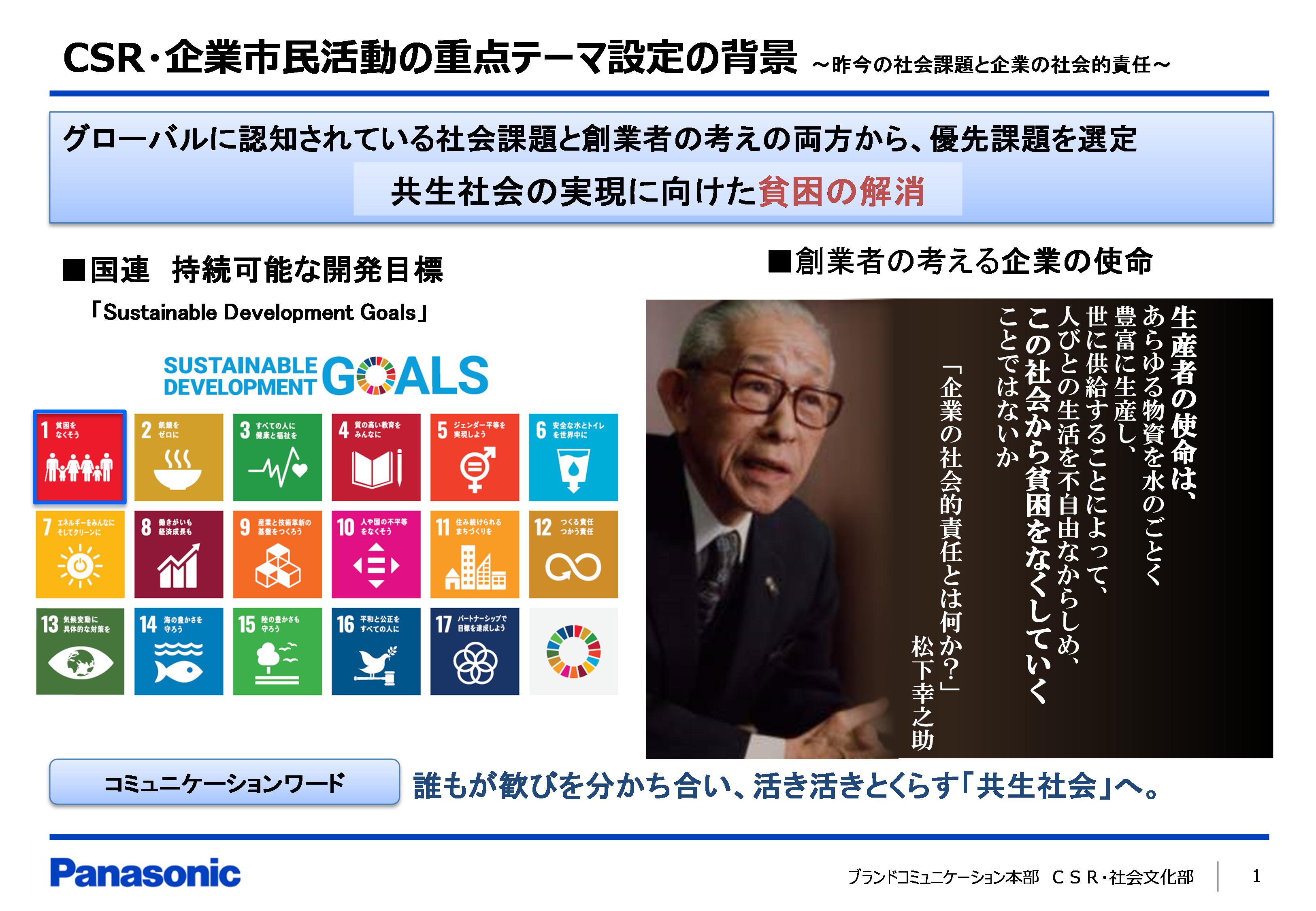 【取り組み事例】Panasonic NPO/NGOサポートファンド for SDGs