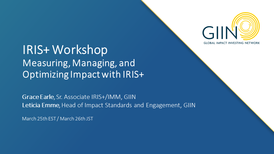「国際指標データベース IRIS+を活用した社会的インパクト・マネジメント実践ワークショップ」を開催しました。